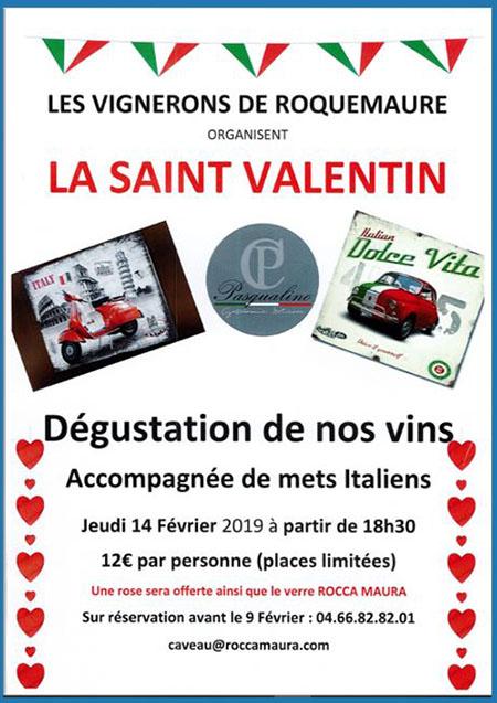 les vignerons de Roquemaure organisent la St Valentin