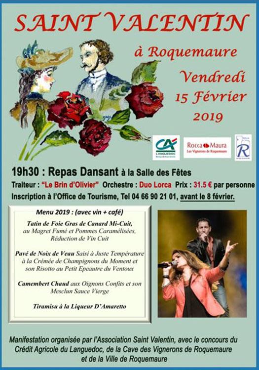 The Valentine's day à Roquemaure